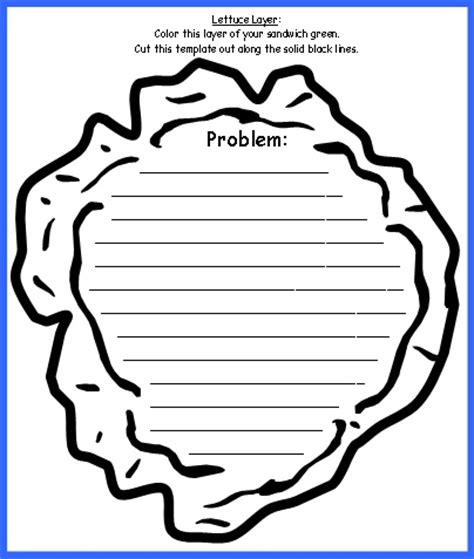 Template for sandwich book report
